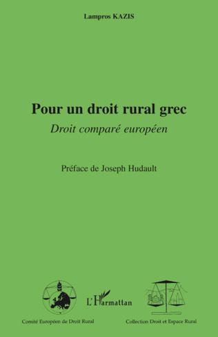 Couverture Pour un droit rural grec