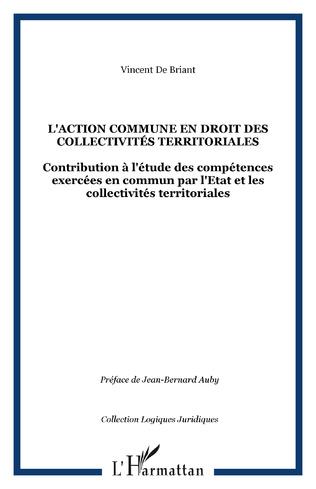 Couverture L'action commune en droit des collectivités territoriales