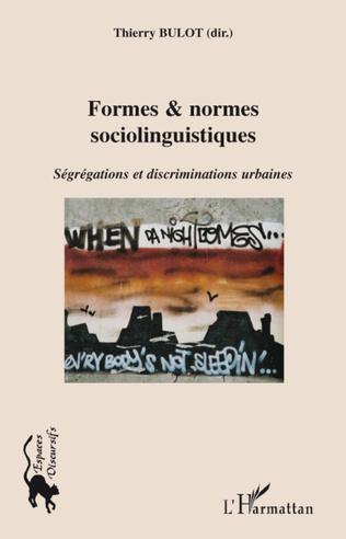Couverture Formes & normes linguistiques