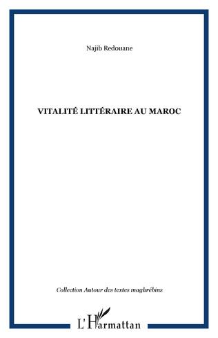 Couverture Vitalité littéraire au Maroc