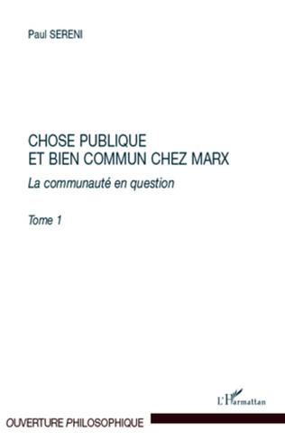 Couverture Chose publique et bien commun chez Marx