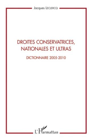 Couverture Droites conservatrices, nationales et ultras