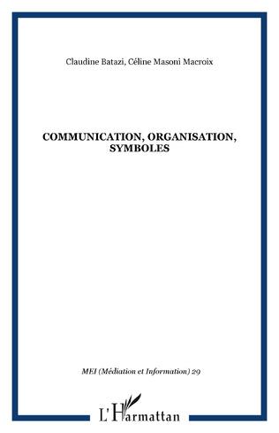 Couverture Communication, organisation, symboles