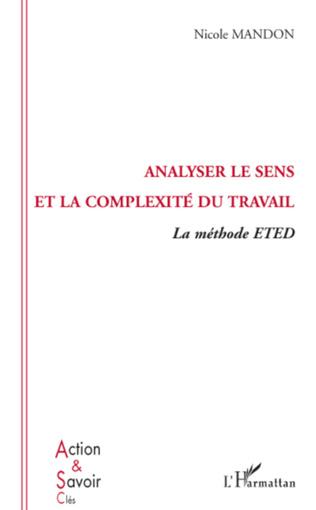Couverture Analyser le sens et la complexité du travail
