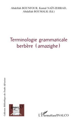 Couverture Terminologie grammaticale berbère (amazighe)