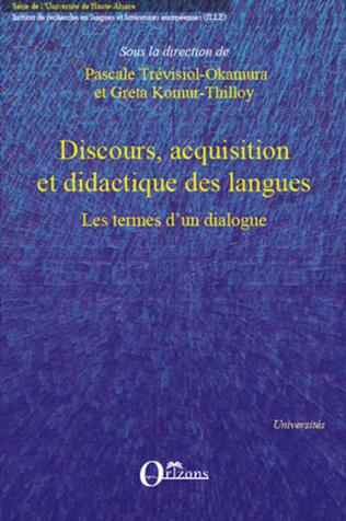 Couverture Discours, acquisition et didactique des langues
