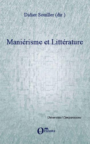 Couverture Maniérisme et littérature