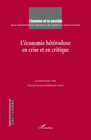 Couverture L'économie hétérodoxe en crise et en critique