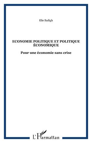 Couverture Economie politique et politique économique