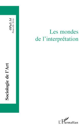 Couverture Les mondes de l'interprétation