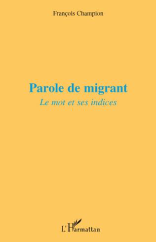 Couverture Parole de migrant