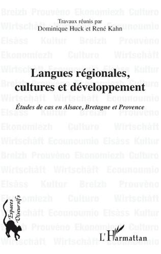 Couverture Langues régionales, cultures et développement