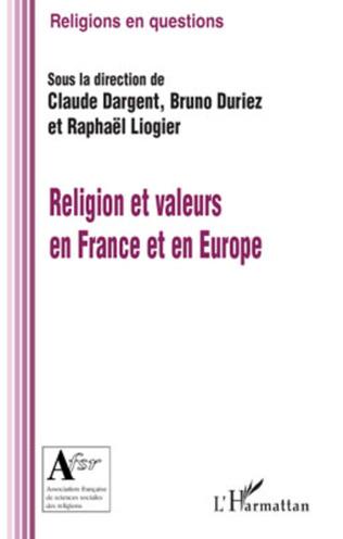 Couverture Religion et valeurs en France et en Europe