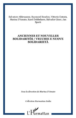 Couverture Anciennes et nouvelles solidarités / Vecchie e nuove solidarietà
