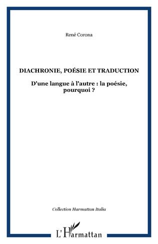 Couverture Diachronie, poésie et traduction