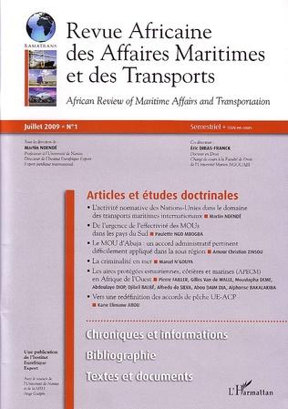 Couverture Revue Africaine des Affaires Maritimes et des transports