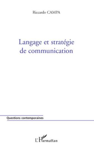Couverture Langage et stratégie de communication