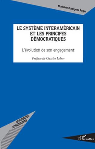 Couverture Le système interaméricain et les principes démocratiques