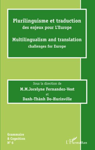 Couverture Plurilinguisme et traduction des enjeux pour l'Europe