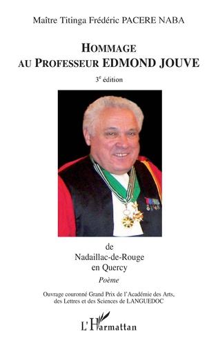 Couverture Hommage au professeur Edmond Jouve