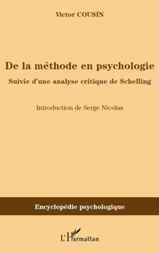 Couverture De la méthode en psychologie