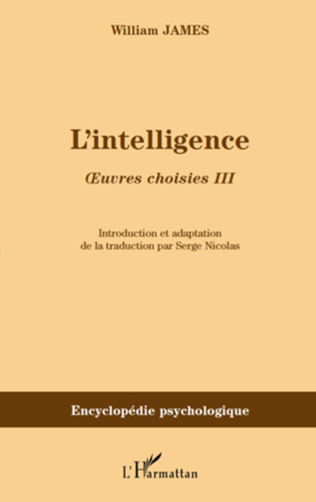 Couverture L'intelligence