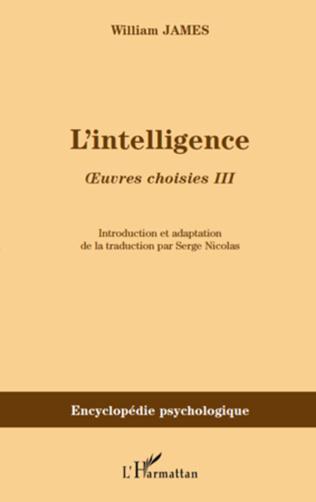 Couverture L'intelligence