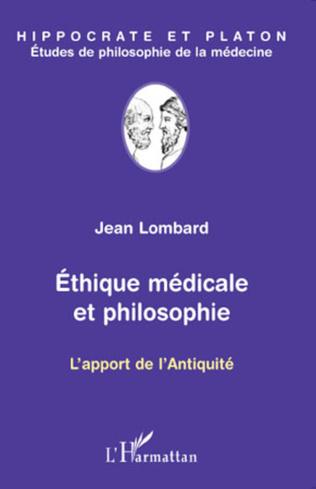 Couverture Ethique médicale et philosophie