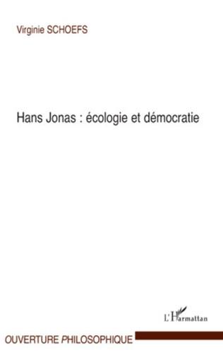 Couverture Hans Jonas : écologie et démocratie