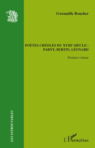 Couverture Poètes créoles du XVIIIème siècle :