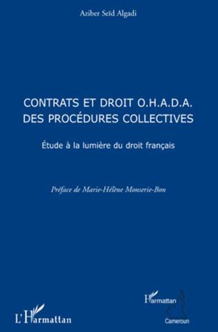 Couverture Contrats et droit O.H.A.D.A. des procédures collectives