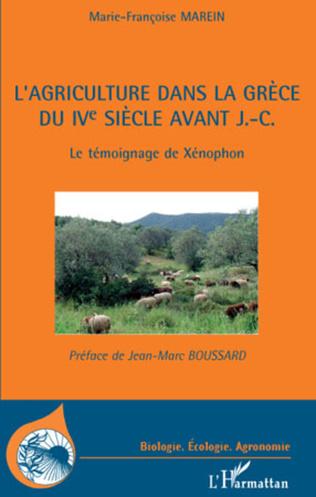 Couverture L'agriculture dans la Grèce du IVe siècle avant J.-C.