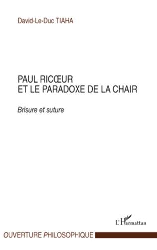 Couverture Paul Ricœur et le paradoxe de la chair