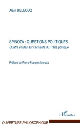Couverture Spinoza : questions politiques