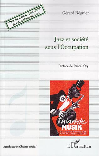 Couverture Jazz et société sous l'Occupation