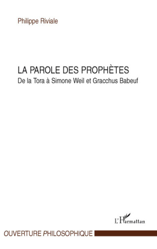 Couverture La parole des prophètes