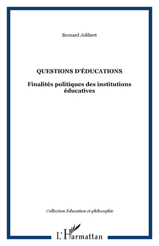 Couverture Questions d'éducations