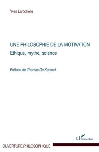 Couverture Une philosophie de la motivation