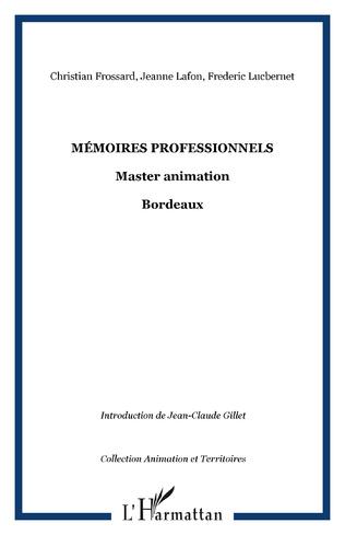 Couverture Mémoires professionnels