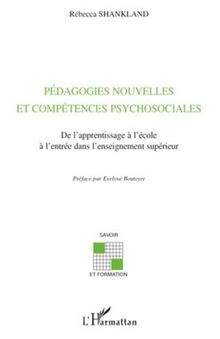 Couverture Pédagogies nouvelles et compétences psychosociales