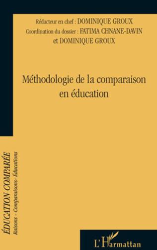 Couverture Méthodologie de la comparaison en éducation