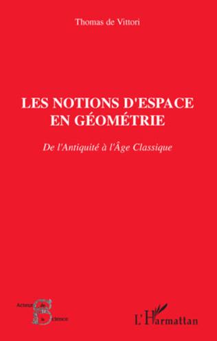 Couverture Les notions d'espace en géométrie