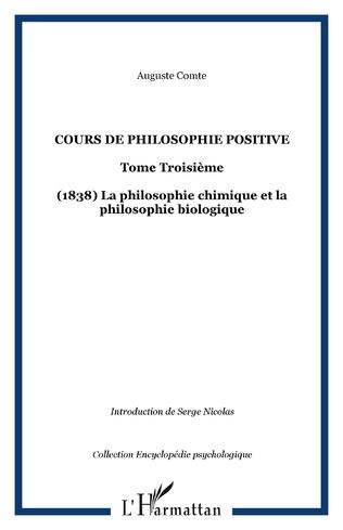 Couverture Cours de philosophie positive