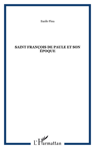Couverture Saint François de Paule et son époque
