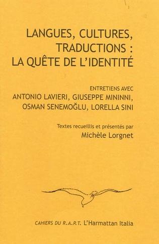 Couverture Langues, cultures, traductions : la quête de l'identité