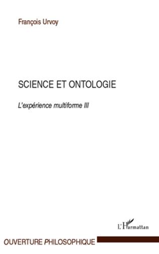 Couverture Science et ontologie