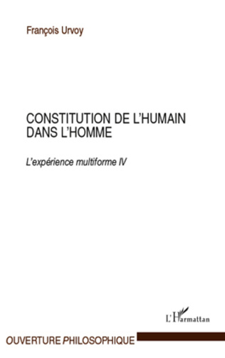 Couverture Constitution de l'humain dans l'homme