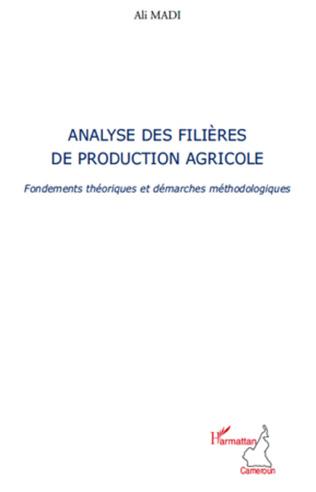 Couverture Analyse des filières de production agricole