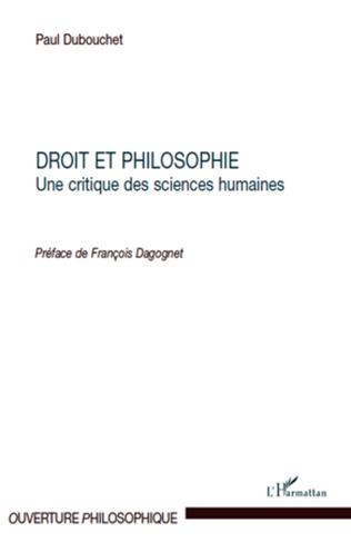 Couverture Droit et philosophie