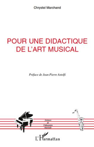 Couverture Pour une didactique de l'art musical